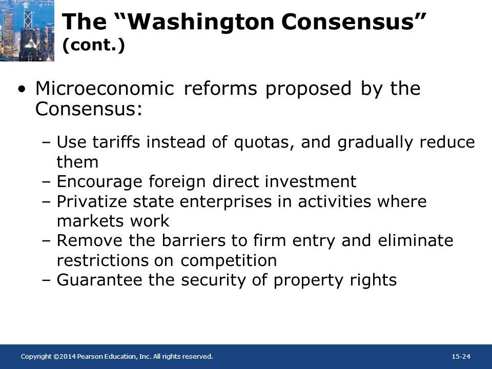 The Washington Consensus (cont.)