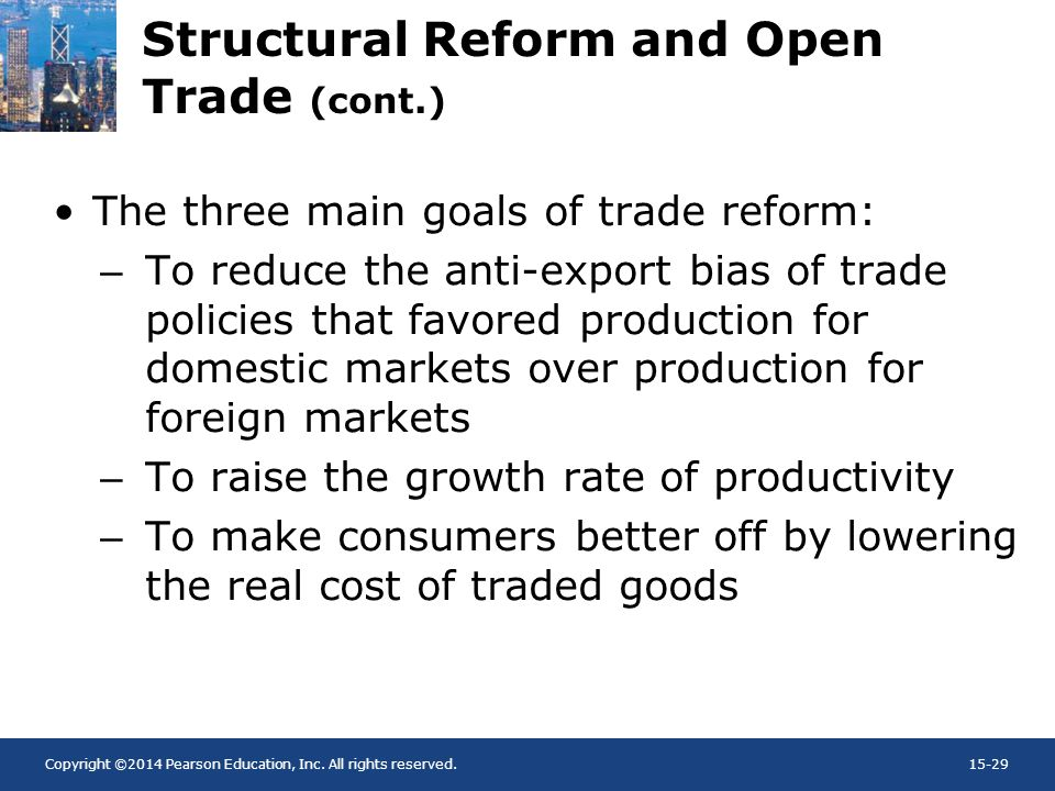 Structural Reform and Open Trade (cont.)