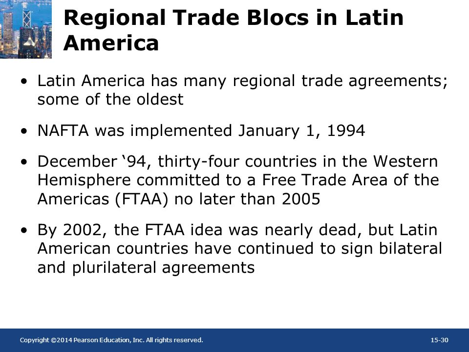 Regional Trade Blocs in Latin America