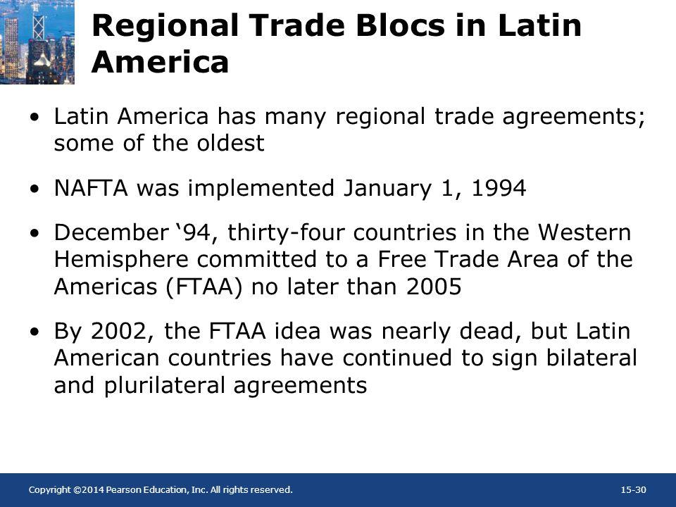 Regional Trade Blocs in Latin America