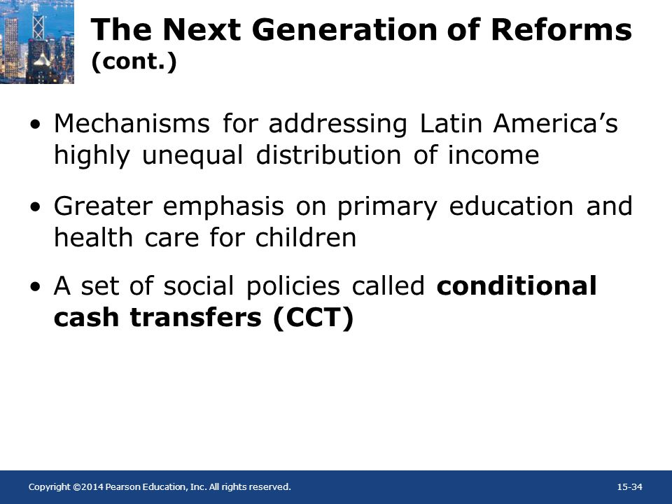 The Next Generation of Reforms (cont.)