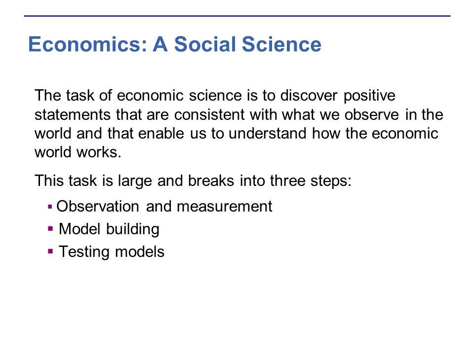 Economics: A Social Science