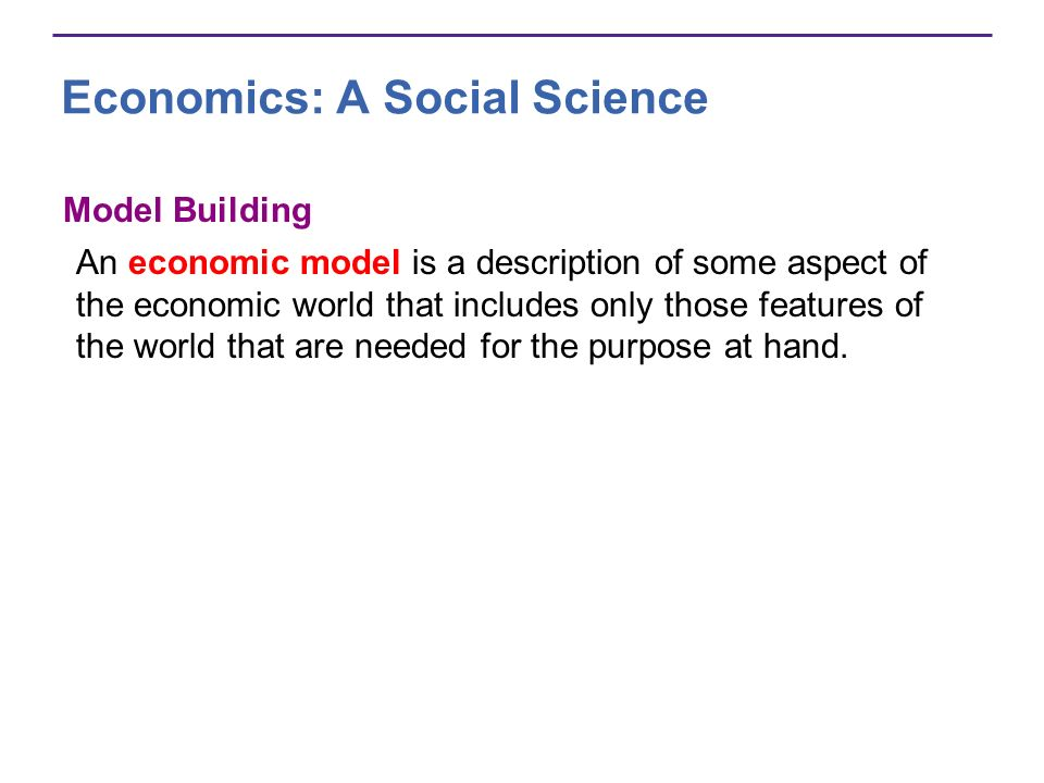 Economics: A Social Science