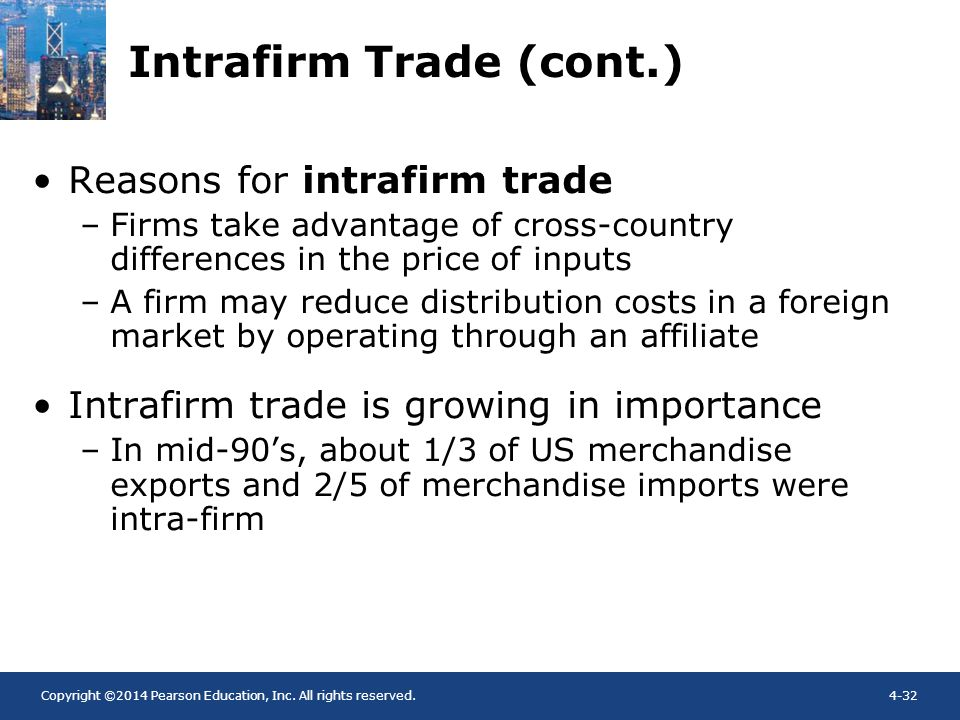 Intrafirm Trade (cont.)