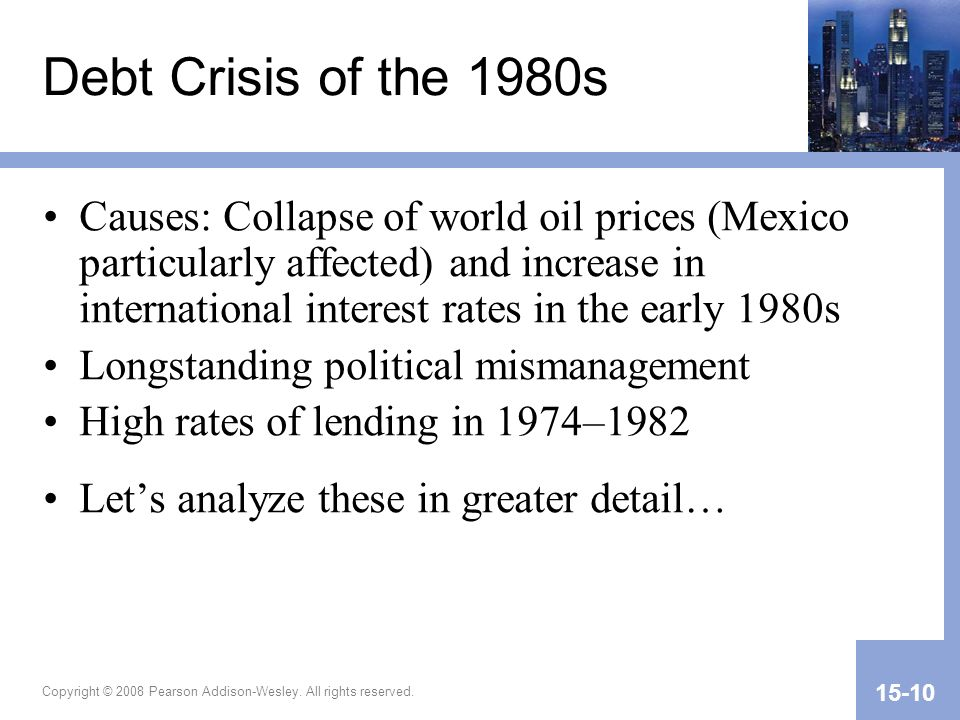Debt Crisis of the 1980s