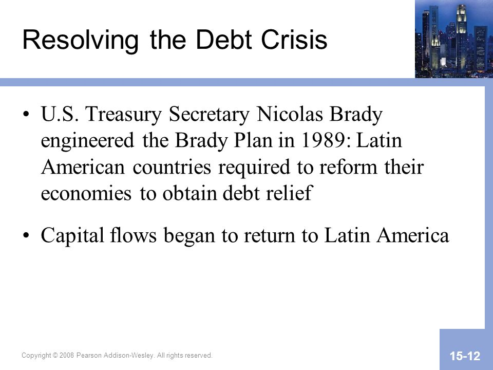 Resolving the Debt Crisis