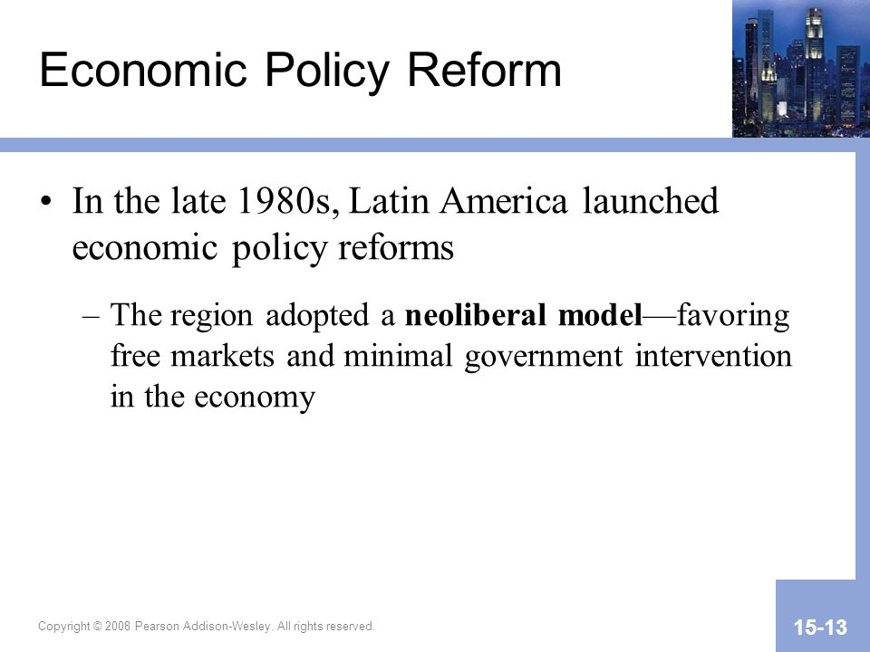 Economic Policy Reform