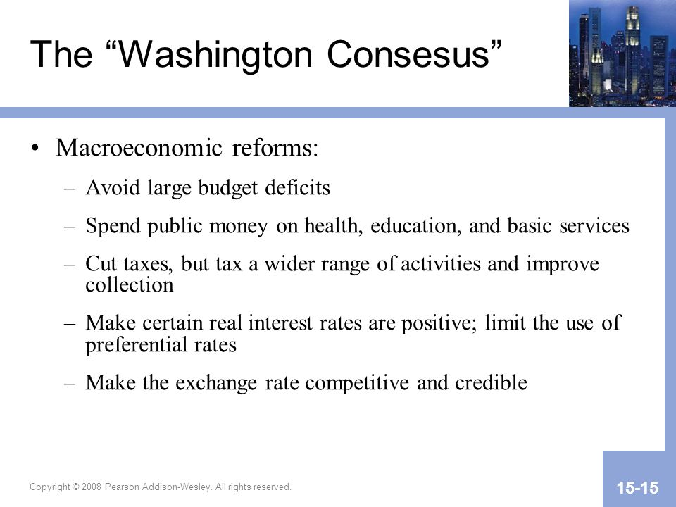 The Washington Consesus