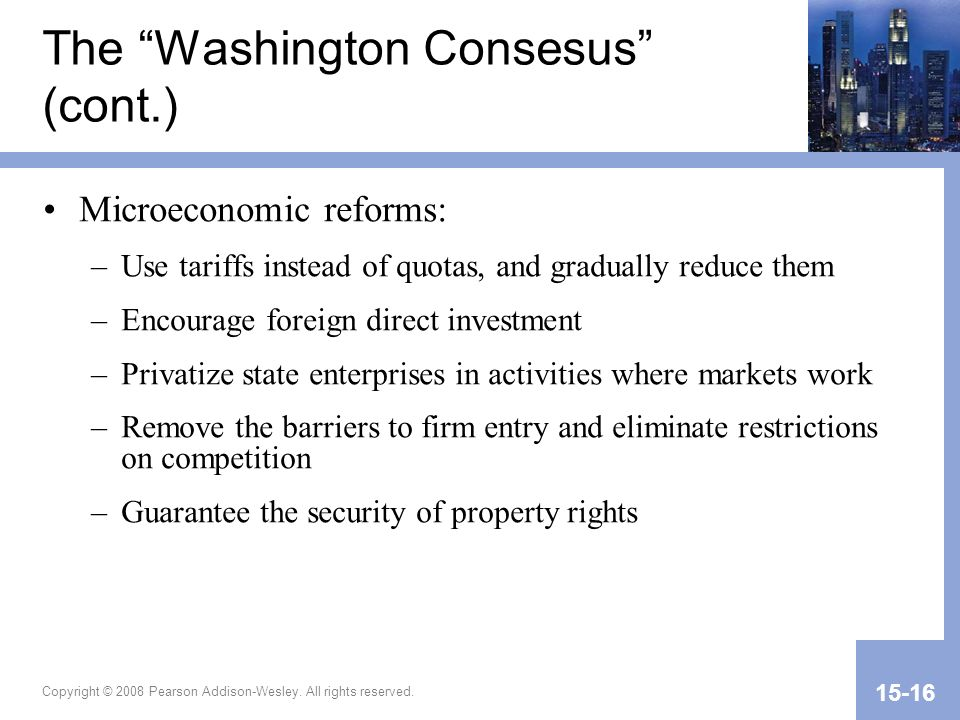 The Washington Consesus (cont.)