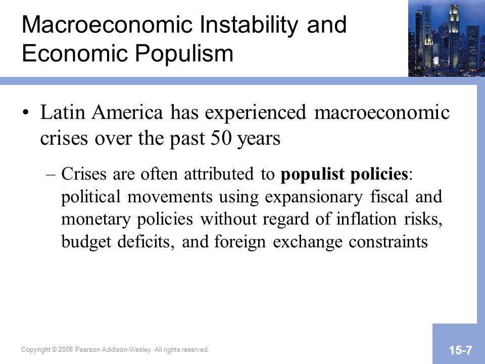 Macroeconomic Instability and Economic Populism