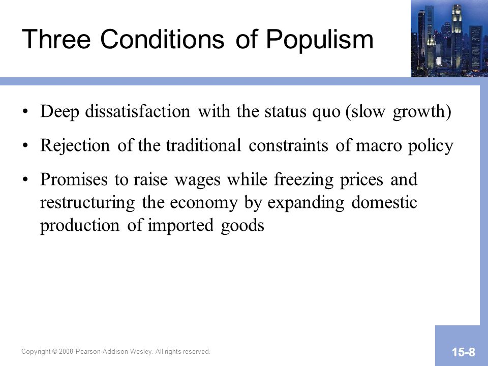 Three Conditions of Populism