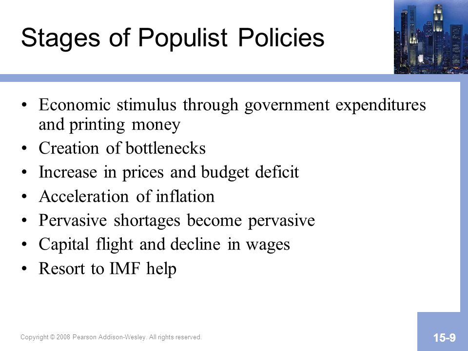 Stages of Populist Policies