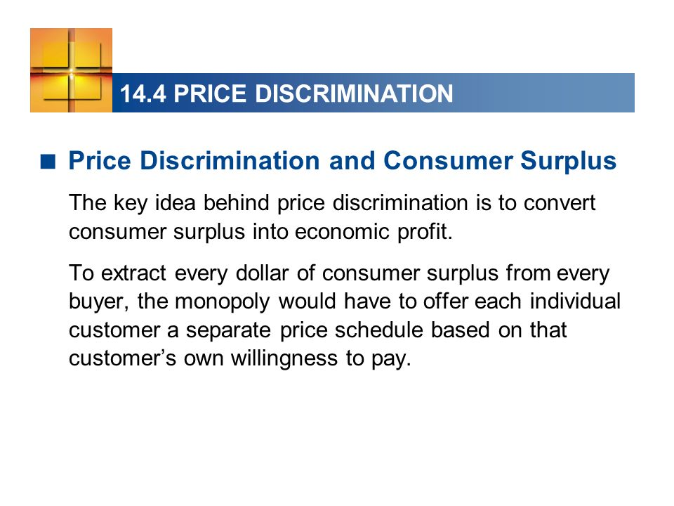 Price Discrimination and Consumer Surplus