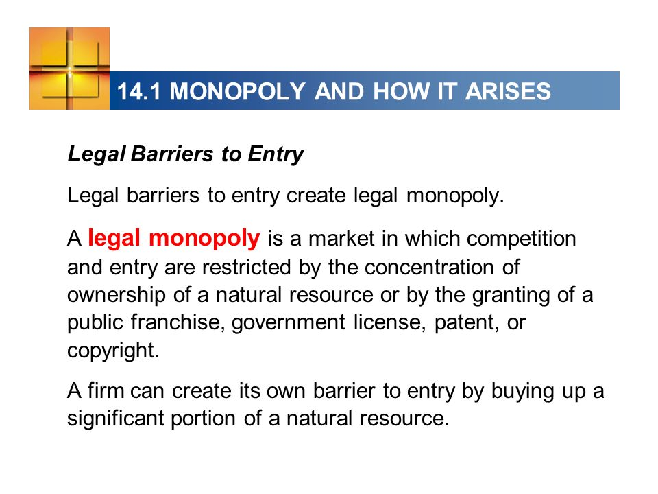14.1 MONOPOLY AND HOW IT ARISES