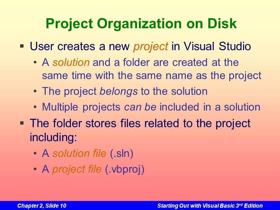 Project Organization on Disk