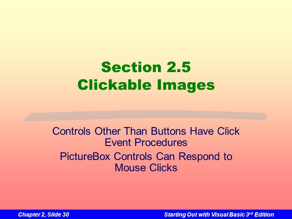 Section 2.5 Clickable Images