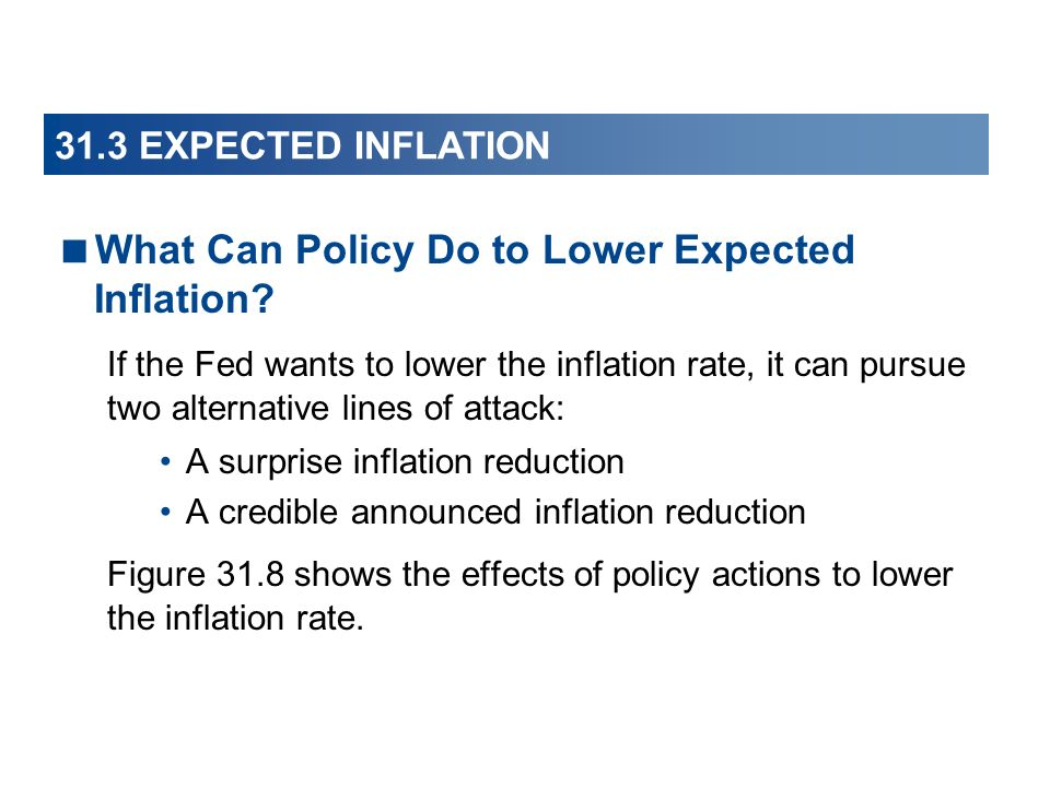 What Can Policy Do to Lower Expected Inflation