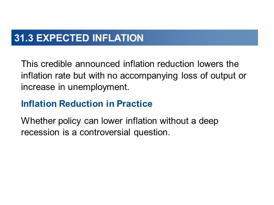 31.3 EXPECTED INFLATION