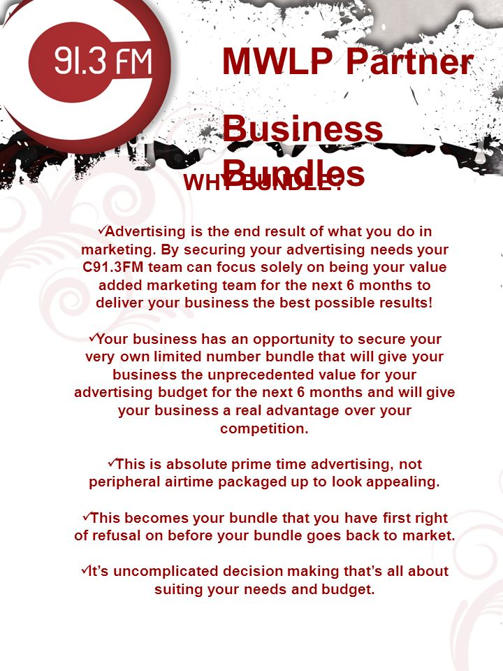 MWLP Partner Business Bundles WHY BUNDLE