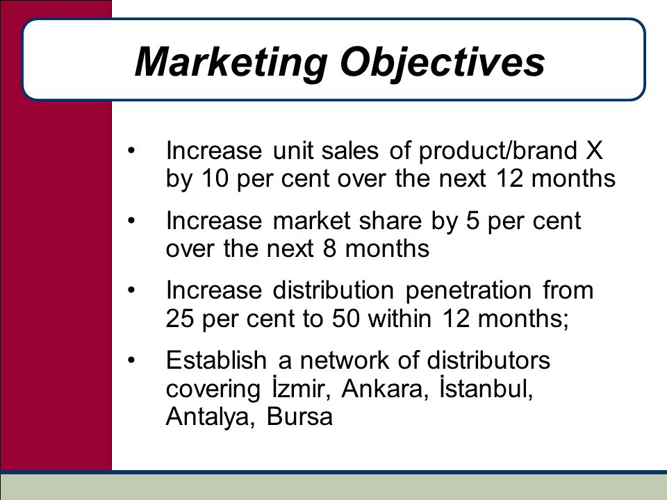 marketing objectives Marketing coordinator resume objective marketing coordinators support their department's daily operations duties include developing projects to meet marketing goals, create media campaigns, and promote products and events.