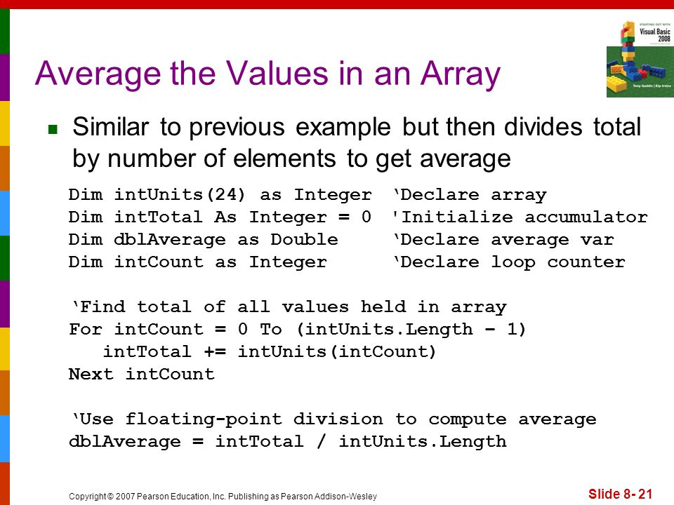Average the Values in an Array