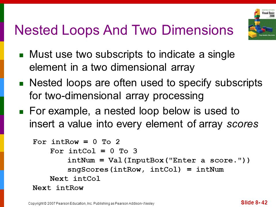 Nested Loops And Two Dimensions
