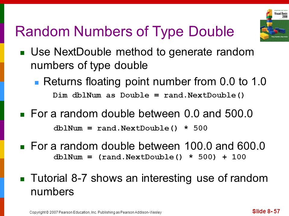 Random Numbers of Type Double