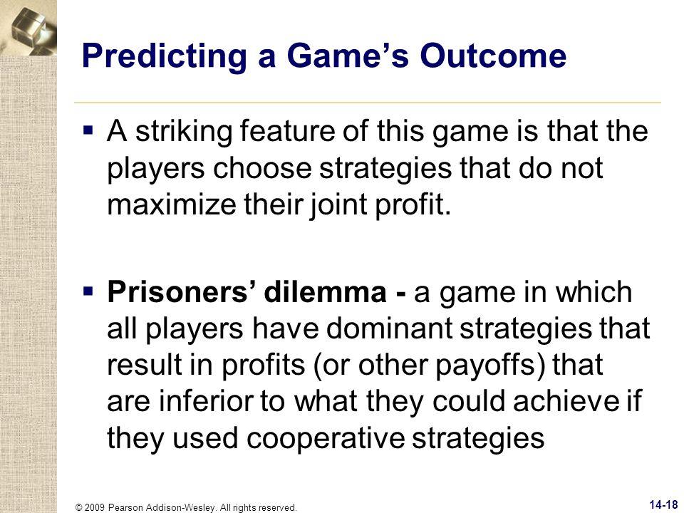 Predicting a Game's Outcome