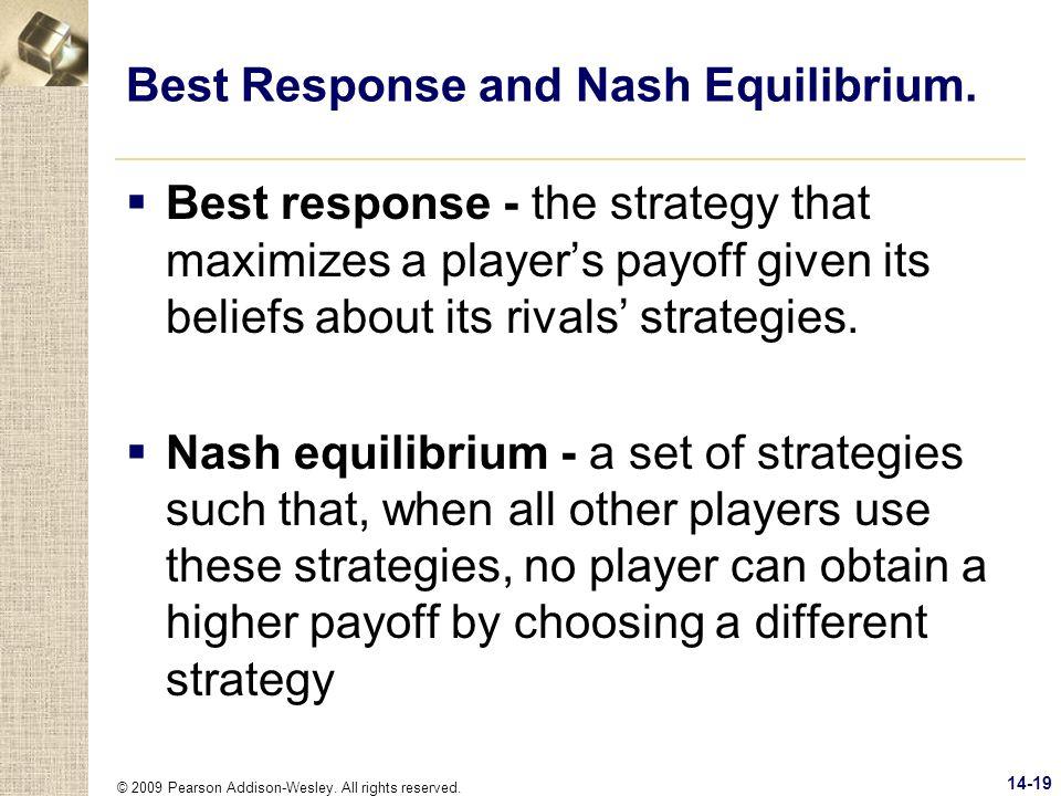 Best Response and Nash Equilibrium.
