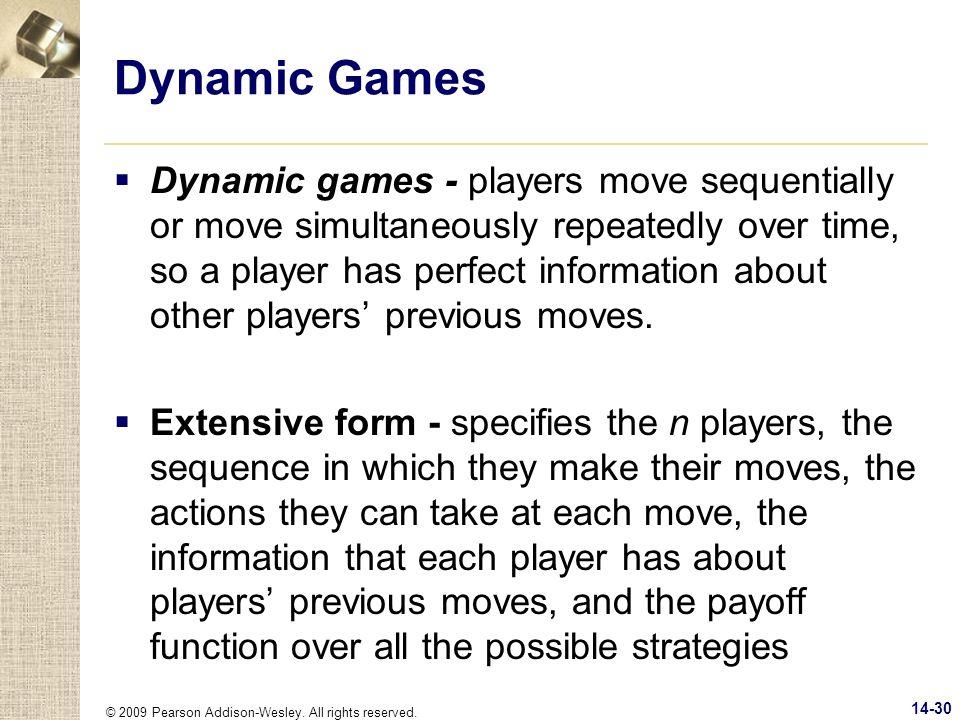 Dynamic Games