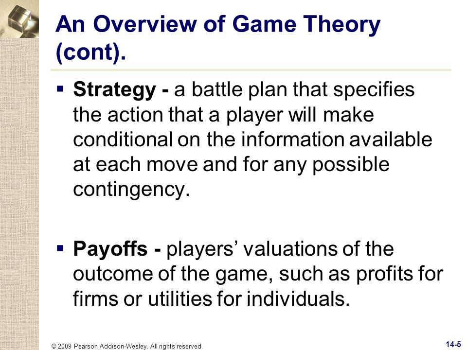 An Overview of Game Theory (cont).
