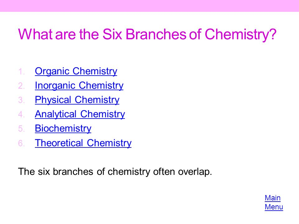 what are the branches of chemistry The following outline is provided as an overview of and topical guide to chemistry : chemistry – science of atomic matter.