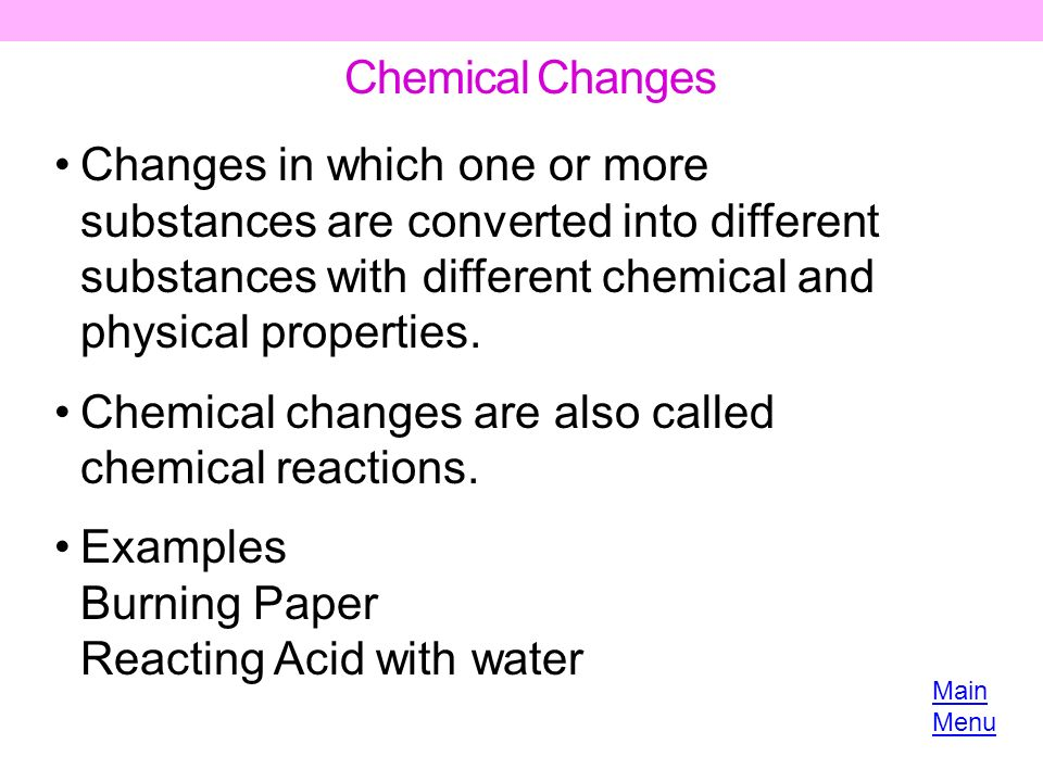 essays on chemical reactions Physical properties and change essaysa physical change save your essays here so a physical change is a change in matter that involves no chemical reaction.