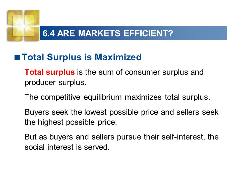 Total Surplus is Maximized