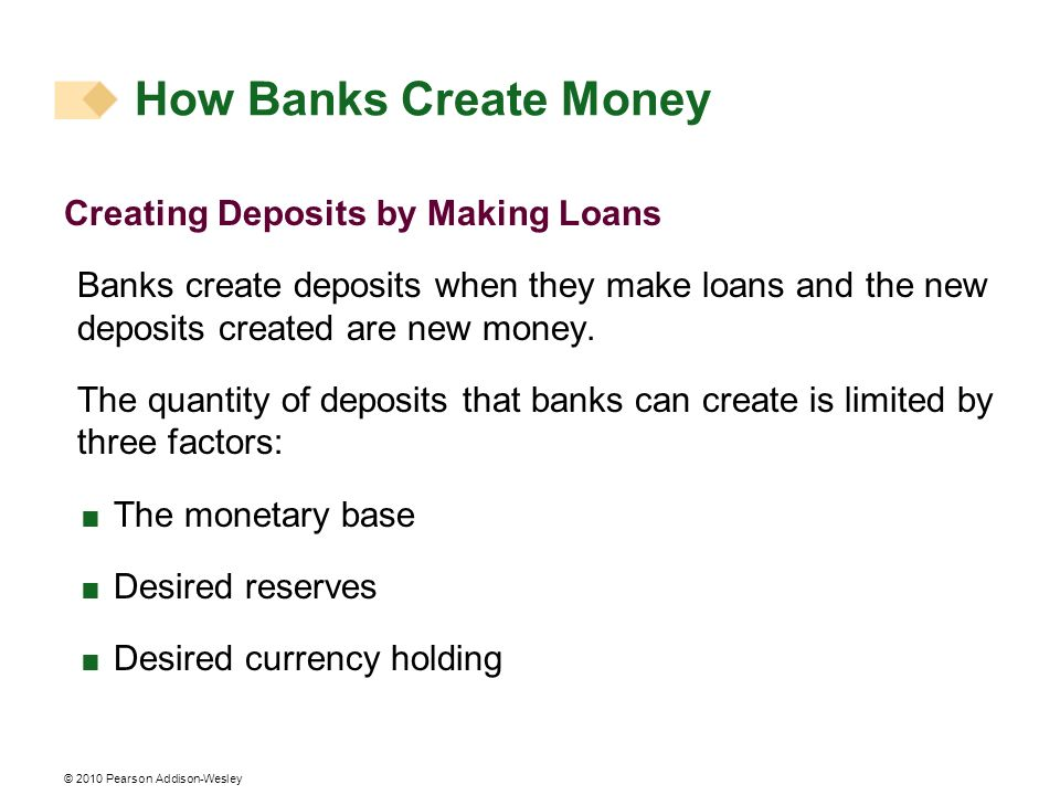 How Banks Create Money Creating Deposits by Making Loans