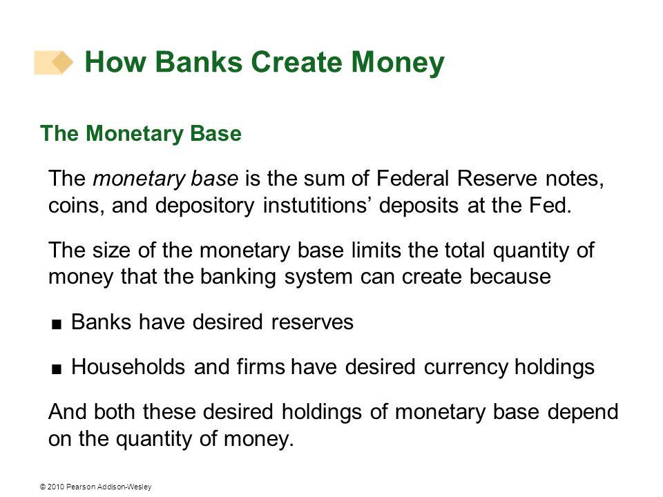 How Banks Create Money The Monetary Base