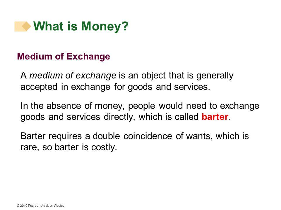 What is Money Medium of Exchange
