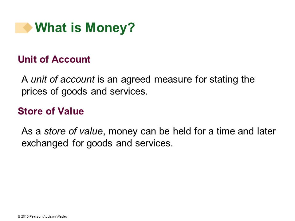 What is Money Unit of Account