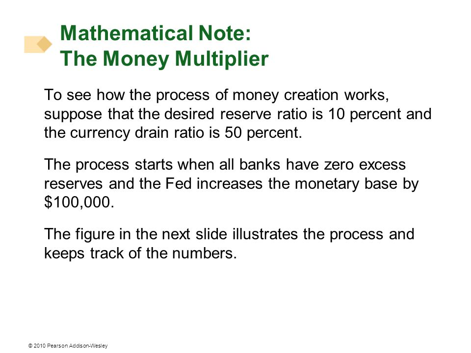 Mathematical Note: The Money Multiplier