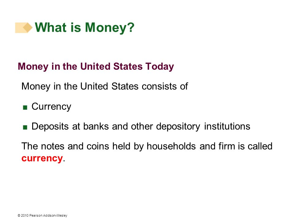 What is Money Money in the United States Today