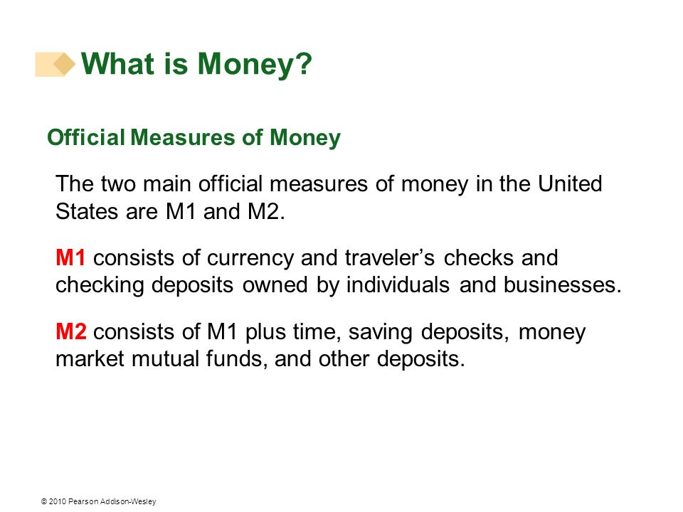 What is Money Official Measures of Money