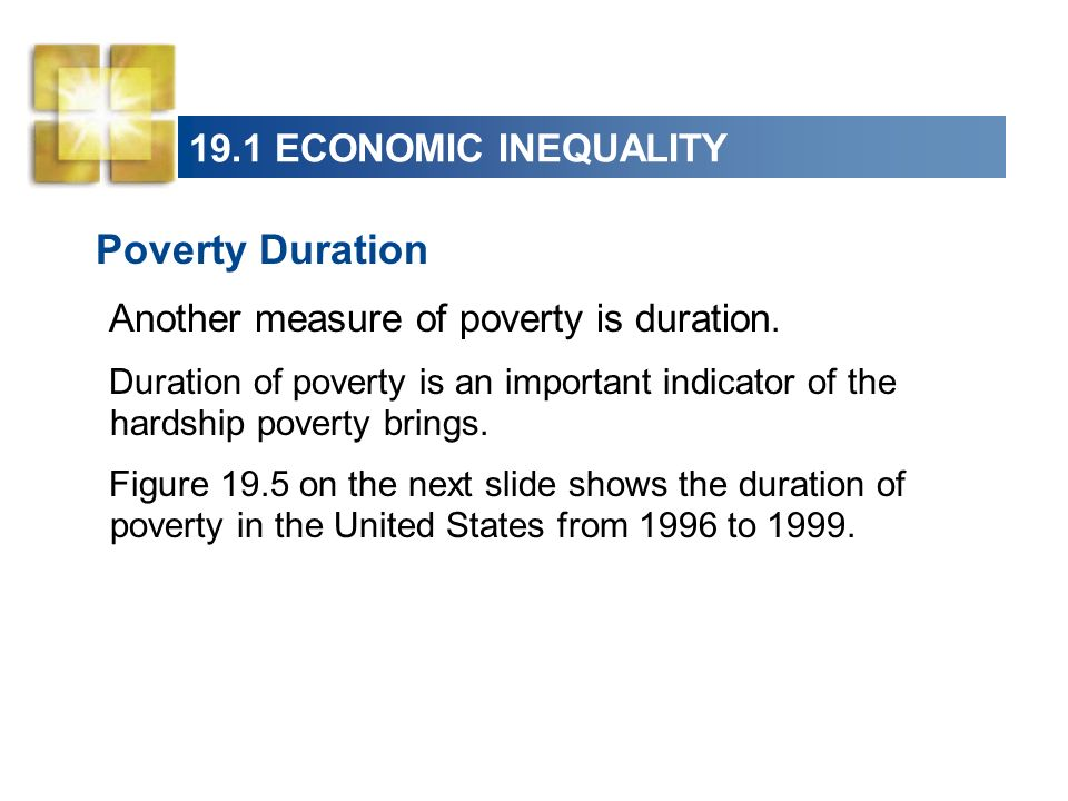 Poverty Duration 19.1 ECONOMIC INEQUALITY