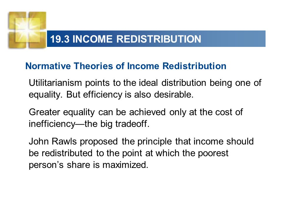 19.3 INCOME REDISTRIBUTION