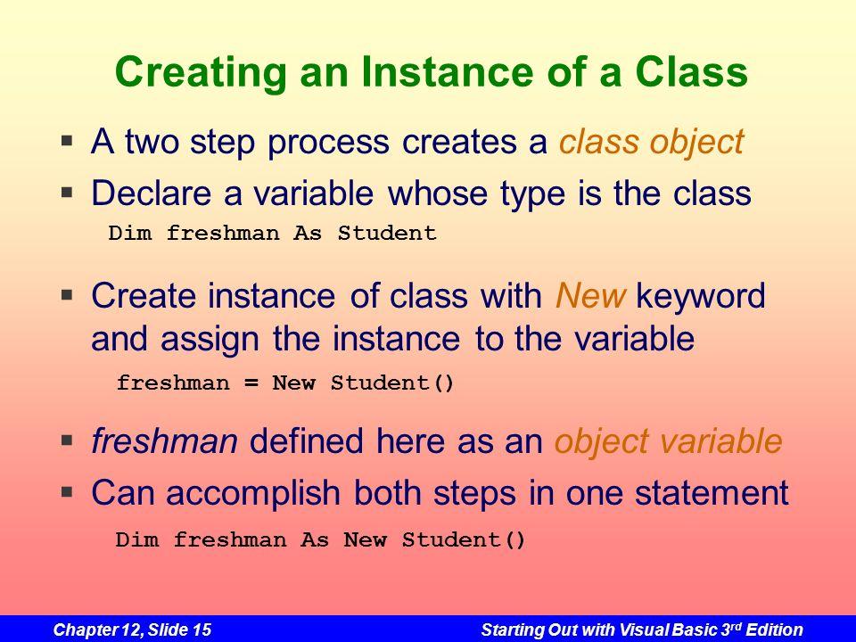 Creating an Instance of a Class