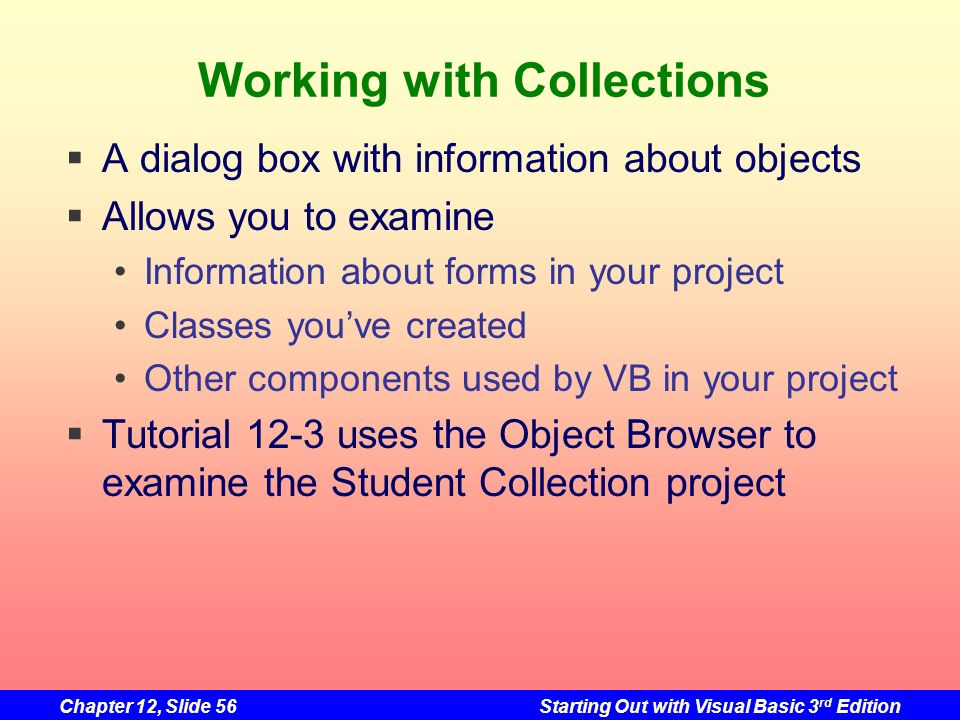 Working with Collections