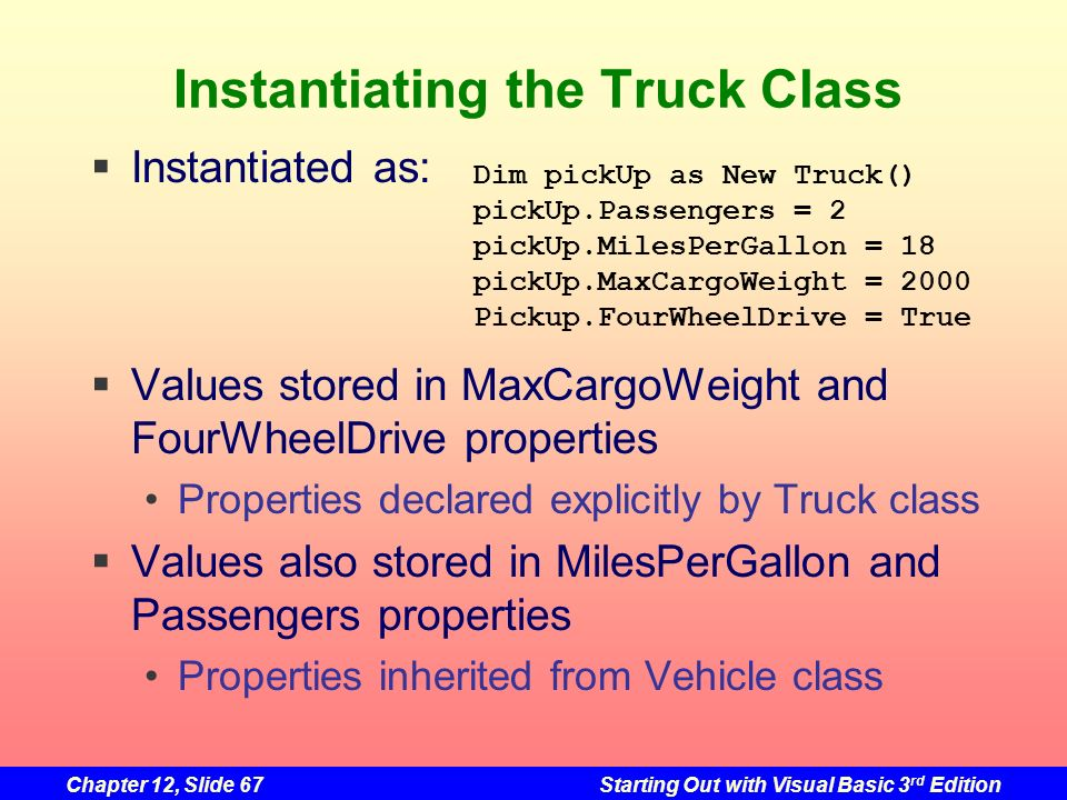 Instantiating the Truck Class