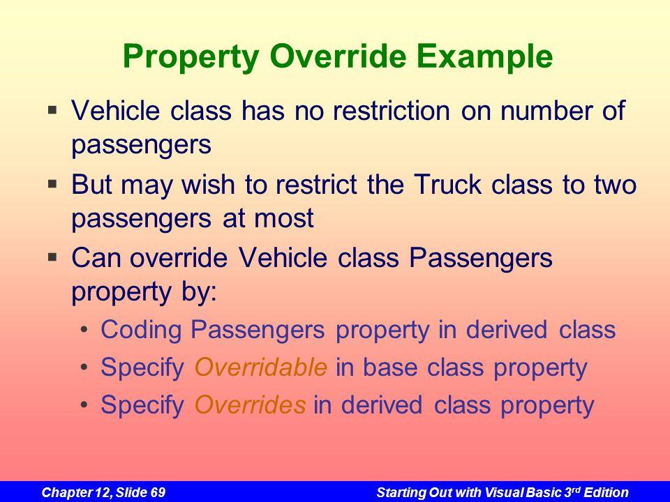 Property Override Example