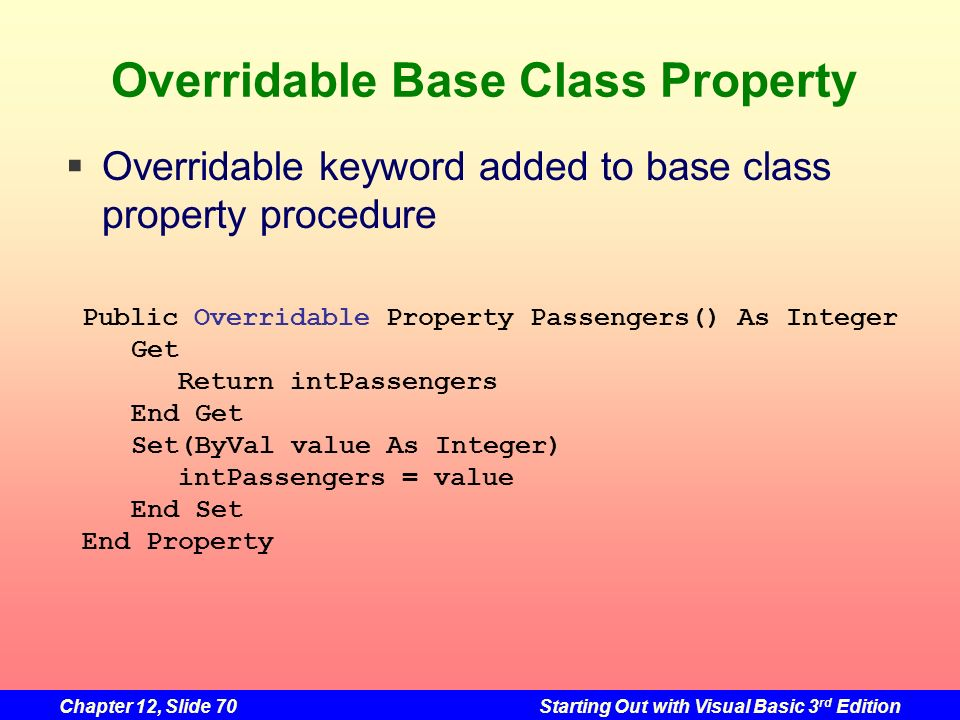 Overridable Base Class Property