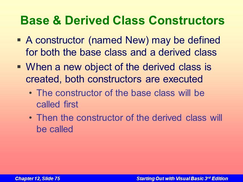 Base & Derived Class Constructors