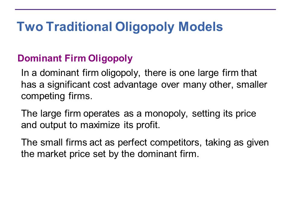 Two Traditional Oligopoly Models